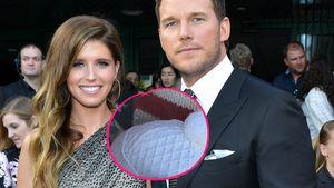 Selten: Chris Pratt und seine Katherine zeigen Baby-Köpfchen