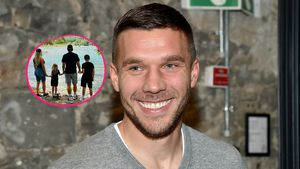 Lukas Podolski postet seltenes Foto mit der ganzen Familie