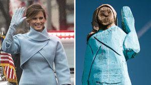 Skurriles Holzmännchen: Melania Trump wird Statue gewidmet