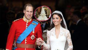 Für William & Kates Hochzeitstorte wurde Palasttür ausgebaut