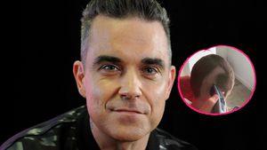 Radikal: Robbie Williams rasiert seinem Sohn die Haare ab