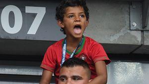 Mega-Fan! Hier feuert Cristiano Ronaldo Jr. seinen Papa an