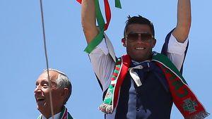 Cristiano Ronaldo bei der EM-Feier