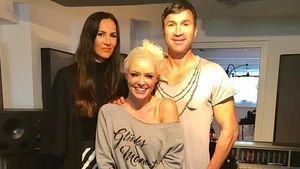 Daniela Katzenberger mit Lucas und Kiki Cordalis im Tonstudio