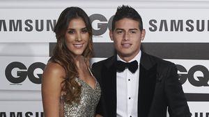 Daniela Ospina & James Rodriguez bei den GQ Man of the Year Awards 2015 in Madrid