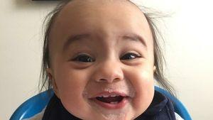 Danny DeVito-Lookalike Logan im Alter von sechs Monaten