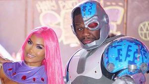 Daphne Joy und Rapper 50 Cent auf der Geburtstagsfeier ihres Sohnes
