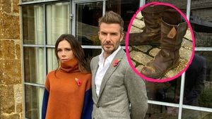 Vic und David Beckham: Alle schauen hier auf seine Schuhe!