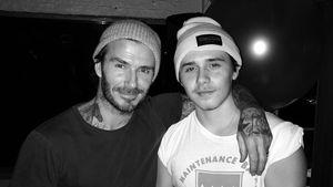 David Beckham und sein Sohn Brooklyn