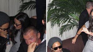 Baggert Demi Moore hier etwa Lenny Kravitz an?
