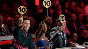 Die Let's Dance Juroren Jorge González, Motsi Mabuse und Joachim Llambi geben jeweils zehn Punkte
