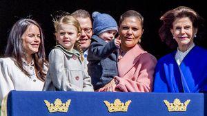 Die schwedische Königsfamilie beim 71. Geburtstag von Carl Gustaf