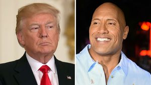 "Donald Trump und Dwayne ""The Rock"" Johnson"