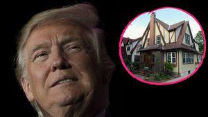 Donald Trump und sein Elternhaus in New York