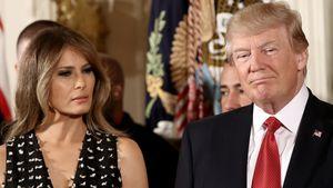 Donald und Melania Trump bei einem Event im Weißen Haus, 2017