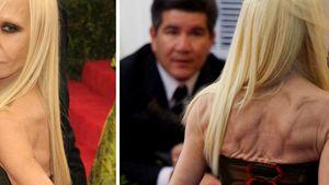 Donatella Versace: Am Pranger wegen Knitter-Rücken