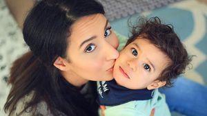 Dounia Slimani und Sohn Mikael