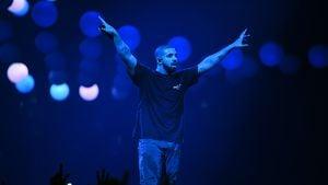 Drake bei seinem Konzert in Paris