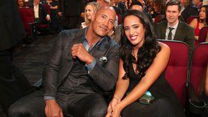 """Dwayne """"The Rock"""" Johnson mit seiner Tochter Simone Johnson"""