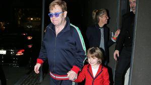 Elton John mit Sohn Zachary bei der Geburtstagsparty von Lady GaGa