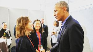 Fan-Girl-Moment: GoT-Beauty Emilia Clarke traf Barack Obama