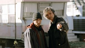"Eminem und Curtis Hanson am ""8 Mile""-Set"
