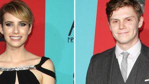 Durchgestylt! Emma Roberts & Evan Peters strahlen