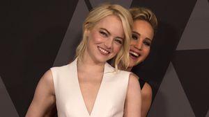 Bei den Oscars: Jennifer Lawrence veralbert Emma Stone!