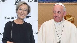 Emma Thompson: Lust auf Verhütungs-Talk mit Papst Franziskus