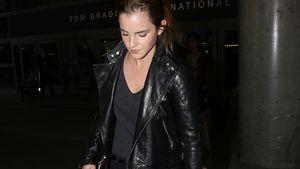 Emma Watson in Lederjacke