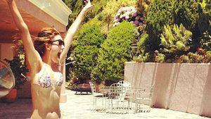Sportlich: Emmy Rossum zeigt tolle Bikini-Figur