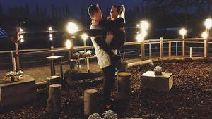 Dagi Bee mit ihrem Verlobten Eugen Kazakov