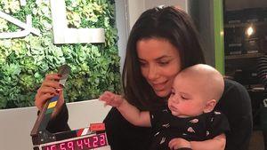 Mini-Regisseur: Eva Longoria mit Baby am Arbeitsplatz!
