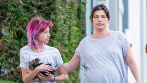 Riesen-Babybauch! Milla Jovovich im Schlabberlook unterwegs