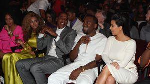 Solange, Beyoncé, Jay-Z, Kanye West und Kim Kardashian bei einer Preisverleihung in Los Angeles