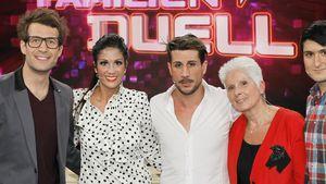 Daniel Hartwich und Anja Polzer (beide links im Bild) beim Familien-Duell