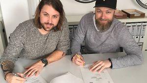 Felix von Jascheroff und GZSZ-Producer Damian Lott