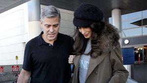George und Amal Clooney am Flughafen von Los Angeles