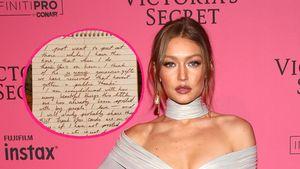Handgeschrieben: Gigi Hadid richtet rührenden Brief an Fans