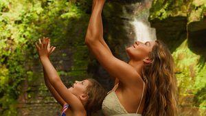 Hier macht Gisele Bündchen Yoga mit ihrer kleinen Tochter