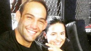Guilherme Vasconcelos und Demi Lovato