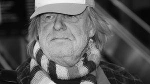 Musiker Gunter Gabriel am Frankfurter Flughafen
