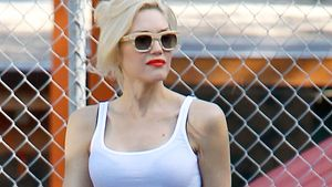 "Cool! Gwen Stefani in fetziger ""Kussmund-Leggings"""