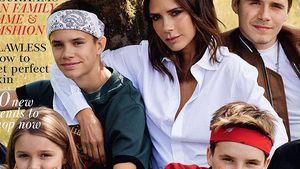 Family-Cover: Victoria Beckham mit ihren Kids auf der Vogue