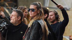 """Heidi Klum bei den Dreharbeiten zu """"Germany's next Topmodel"""""""
