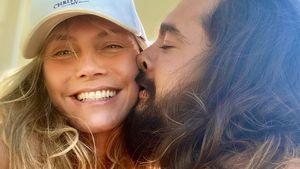 Halbnackt und ganz romantisch: Heidi Klum knutscht mit Tom