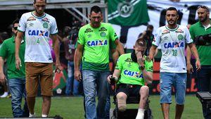 Helio Neto, Jackson Follmann und Alan Ruschel im Conda-Stadion