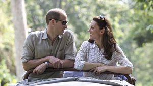 Herzogin Kate und William strahlen sich an