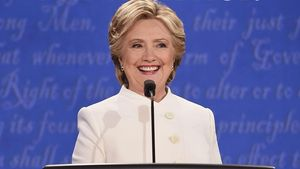 Hillary Clinton bei der 3. TV-Debatte in Los Angeles