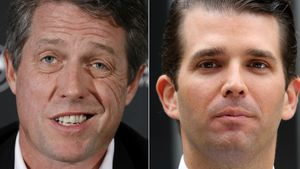Hugh Grant und Donald Trump Jr.